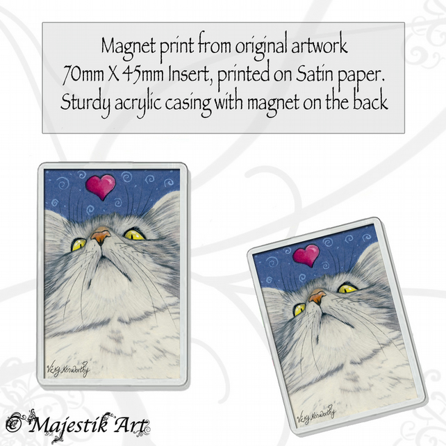 Maine Coon Magnet MY HEART Cat Animal VK