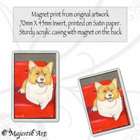 Corgi Dog Magnet GET DOWN Puppy Animal Pet VK