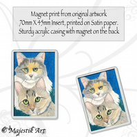 Maine Coon Magnet SISTER LOVE Cat Animal VK