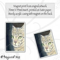 Tabby Cat Magnet SHADOW Animal Feline Pet VK