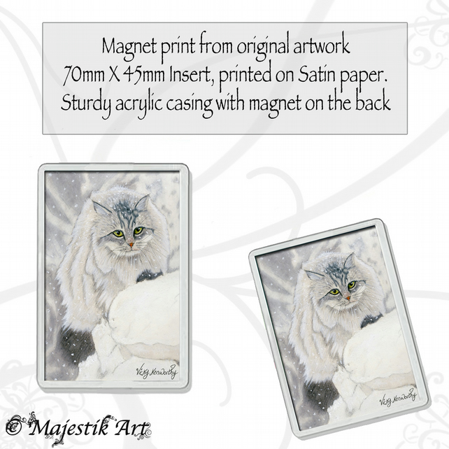 Maine Coon Magnet SNOW DAY Cat Animal VK