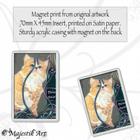Ginger Kitten Magnet PARTY FUN Animal Cat VK