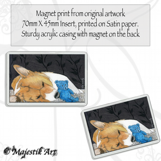 Corgi Dog Magnet SNUGGLES Puppy Animal VK