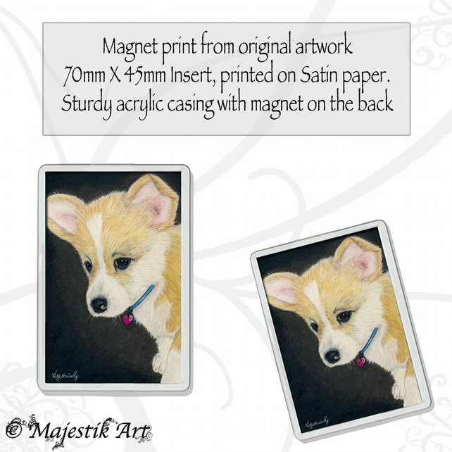 Corgi Magnet PUPPY LOVE Puppy Dog Animal VK