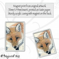 Fox Magnet NIPPY Winter Snow Animal VK