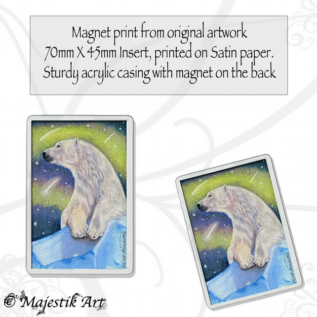 Polar Bear Magnet GRACE Wildlife VK