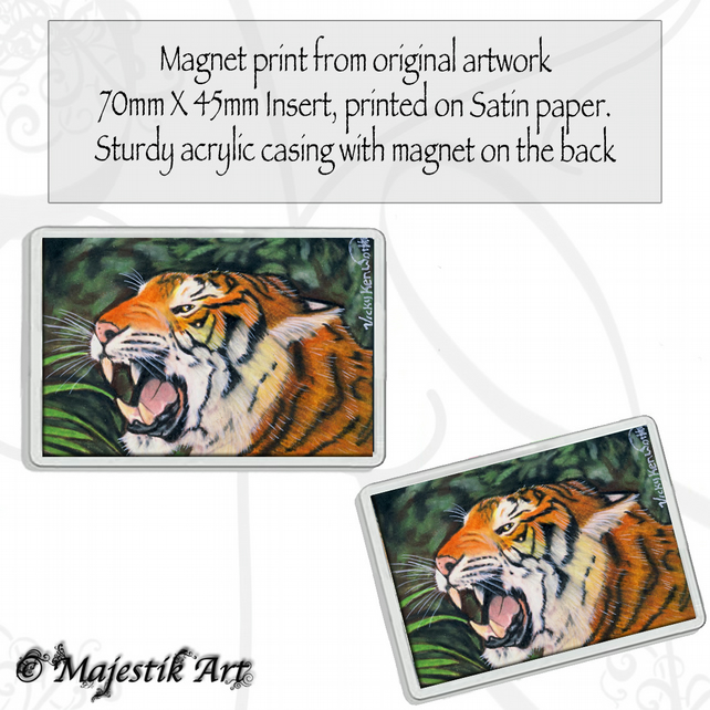 Tiger Magnet KING OF THE JUNGLE Wildlife VK