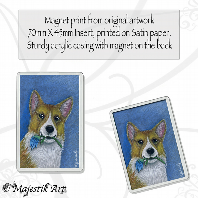 Corgi Magnet I FOUND IT Dog VK