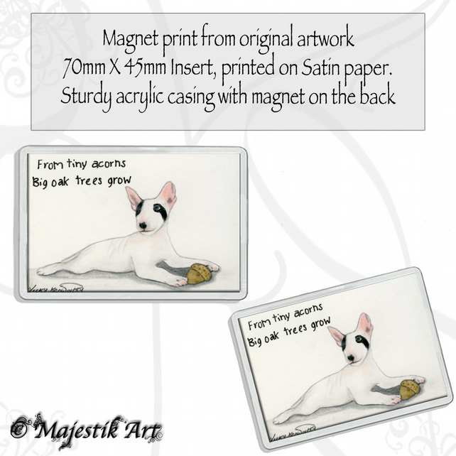Bull Terrier Magnet LITTLE ACORN Dog VK