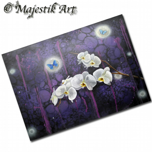 ACEO Print Flowers ORCHIDS