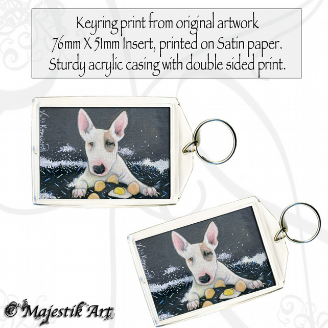 Bull Terrier Keyring COOKING Dog Puppy