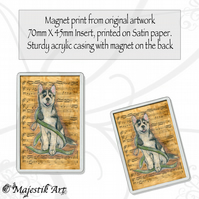 Husky Magnet NOTE Animal Dog VK