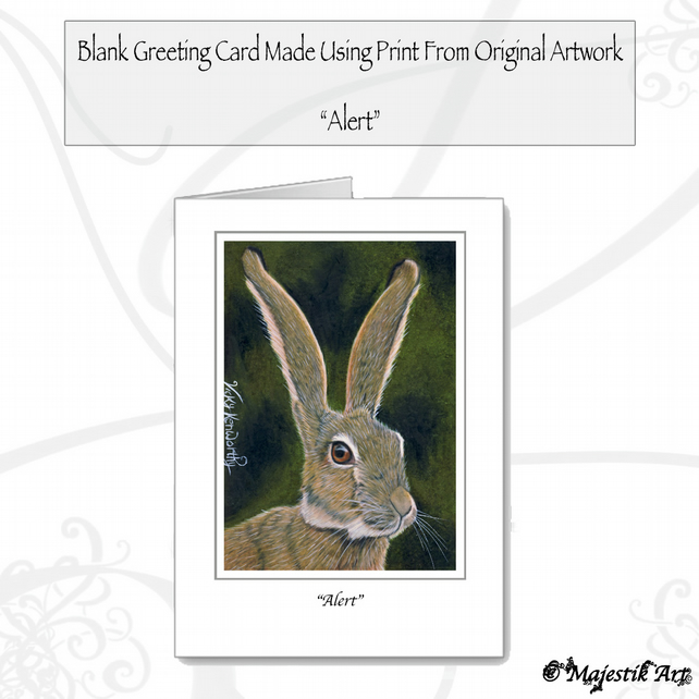 Greeting Card ALERT Hare