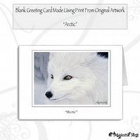 Greeting Card ARCTIC Fox