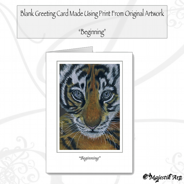 Greeting Card BEGINNING Tiger