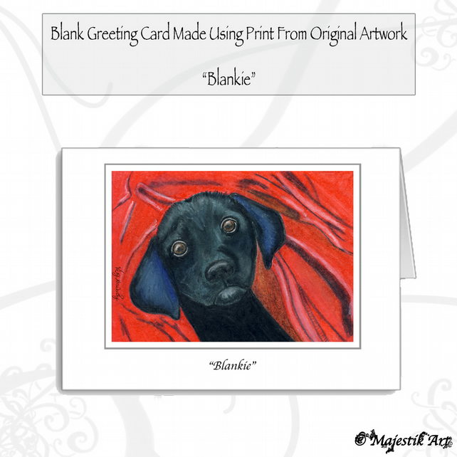 Greeting Card BLANKIE Labrador