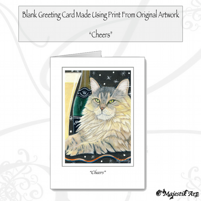 Greeting Card CHEERS Maine Coon