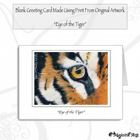 Greeting Card EYE OF THE TIGER Animal
