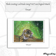 Greeting Card DREAM Tiger
