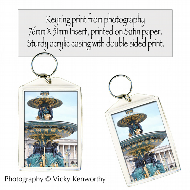 Fountain Keyring Photography by VK