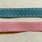 Blue Stitched Edged Grosgrain Ribbon