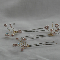 SALE Fay Bobby Pin - Pink Pearls