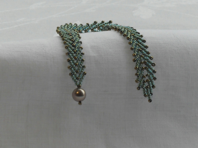 St Petersburg chain bracelet - aqua and bronze
