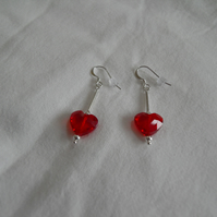 Heart and Silver Earrings