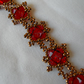 Red and Bronze Bracelet