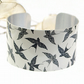 Cuff bracelet, bird jewellery, swallow bangle, bird lovers gift - C150