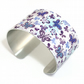 Cuff bracelet, women's feminine bangle with purple butterflies. C123