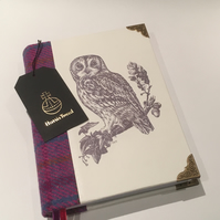 Harris Tweed Owl Journal