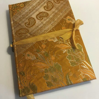 Gold and Green Brocade Journal