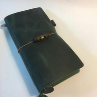"Handmade ""Trees & Bees"" Leather Journal"
