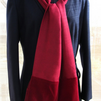 Unique Red Scarf, with red velvet