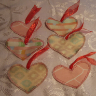 Heart Shaped, Fabric Gift Tags