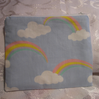 Zipped Bag, Rainbow pattern