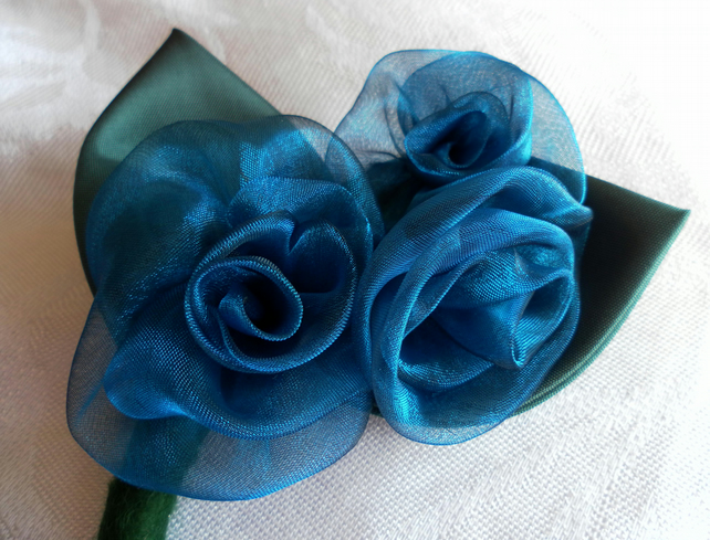 Corsage, Buttonhole, Wedding, Prom, organza