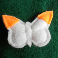 Orange Tip Butterfly Brooch, Badge