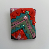 Embellished  Fabric Brooch, Badge