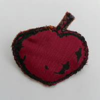 Exclusive Fabric Apple Brooch