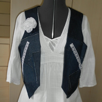 Exclusive Shabby Chic sleeveless jacket