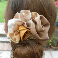 Unique Shades of Gold Hair Barrette, Clip, Wedding, Prom, Evening, Day