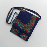 Unique Shoulder Bag, Vintage Scarf, Quilted, Multi  Coloured