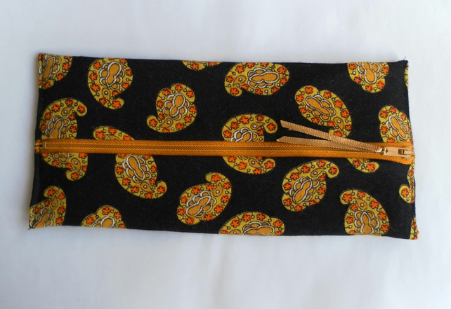 Black and Yellow Pencil Case or Make Up Bag
