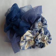 Unique Pretty Blue Hair Accessory, Wedding, Prom, Evening, Day