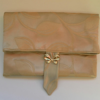 Clutch, handbag, Gold tone, fold over, day, wedding, evening