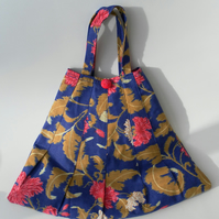 Floral, Pleated, Handbag, Matching Purse
