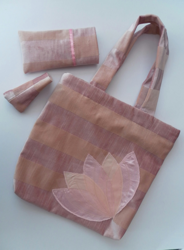 Dusty Pink, Velvety Bag  Set,  Wedding, Prom, Evening