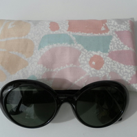 Pretty, Floral, Glasses or Sunglasses Case in Pastel Shades
